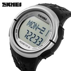 Mens Watches Top Brand Luxury SKMEI Pedometer Heart Rate Monitor Calories Counter Digital Watch Men Sport Watches For Men Women