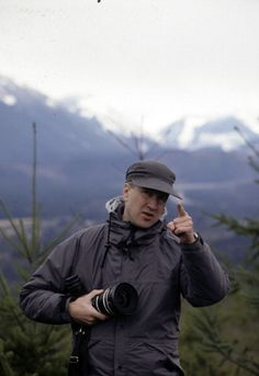 David Lynch filming Twin Peaks
