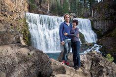 Jess & Laurence at McCloud Falls in Shasta Cascade region of California