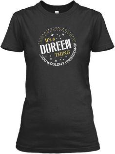 It's A Doreen Thing !!! Black Women's T-Shirt Front