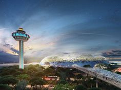 Israeli-Canadian architect Moshe Safdie, the mastermind behind Singapore's BASE-jumper friendly Marian Bay Sands Hotel, has revealed an addition to the city's Changi Airport that's. A As Architecture, Singapore Changi Airport, Sands Hotel, Images Google, Air Travel, International Airport, Seattle Skyline, Travel Destinations, The Incredibles