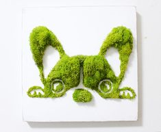 French Bulldog Moss Art Wall Decor Vertical Garden