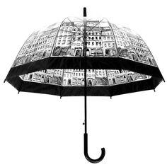 KINGSO Elegant Lady Girl Transparent Umbrellas Outdoor Creative Rain Umbrella Building: Amazon.ca: Home & Kitchen