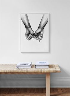 Watercolor hands No3 Poster in the group Prints / Sizes / 50x70cm | 20x28 at Desenio AB (10203)