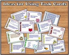 Ways to Use Task Cards in the Classroom