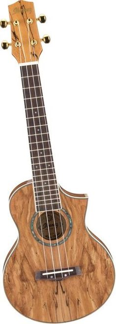 spalted maple concert ukulele with pickup