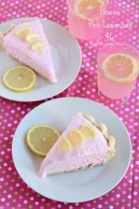 Summertime Frozen Pink Lemonade Pie