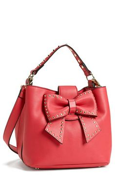 Betsey Johnson 'Hopeless Romantic II' Faux Leather Bucket Bag available at #Nordstrom $118