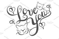 Love You, Lettering Design Vector font @creativework247