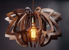 Lily Wooden Chandelier Light #chandelier #pendantlight #lighting #lights #homedecor #lampshade #geometricdesign #nordicdecor #scandinavian #nordic