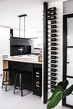 Küchen Design, House Design, Interior Design, Kitchen Interior, Kitchen Decor, Kitchen Ideas, 70s Kitchen, Wine Rack Design, Home Wine Cellars