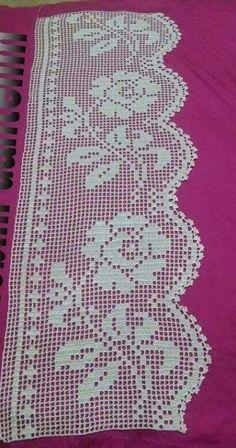 Easiest Crochet Frills Border Ever! Crochet Curtain Pattern, Crochet Edging Patterns, Crochet Bedspread, Crochet Lace Edging, Crochet Curtains, Crochet Borders, Crochet Squares, Thread Crochet, Crochet Doilies