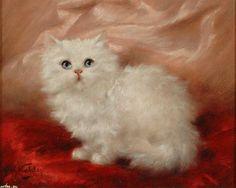 Скачать обои пушистый котик, Carl Kahler 1280x1024