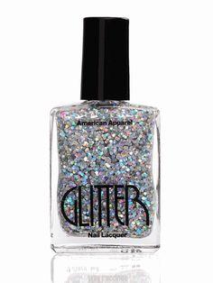 American Apparel glitter nail polish.
