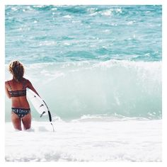 The stoke is real || @jaclynmh27 wearing the Surfs Up Set || #ocean #beach #surf #soflo #waves #miami #surfboard