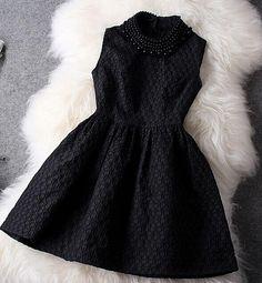 Embroidery Beaded Slim Dress