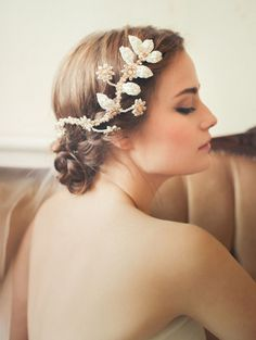The Loveliest Wedding Hairstyles with Floral Crowns - Photography: Sandra Åberg for Jannie Baltzer