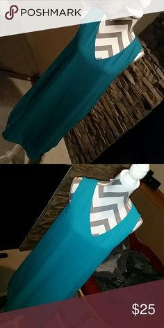 ■Teal Dress■ Like new! So comfy! Price firm unless bundled. Dresses Midi