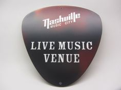 You've seen them on the streets of Music City. Now, you can have your very own Nashville Live Music Venue Sign! #MusicCityShop