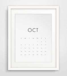 2015-2016 Wall Calendar, 18 Monthy Printable Calendar 2015, 2016 Wall Calendar, Monthly Calendar, Minimalist Calendar