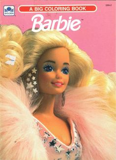 Vintage 1991 1990 Barbie Coloring Book By Golden