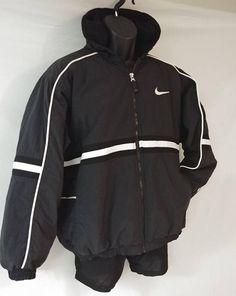 e0699977bba Vintage 1990 s Nike Color Block Winter Bomber Jacket Winter Puffer Jackets