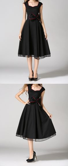 vintage dress 50s 60s cooktail dress black s-zone with bownot from $26.99 s-zone. do you like it ?