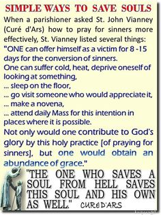 Advice from St. John Vianney (Jean-Marie), the Cure of Ars