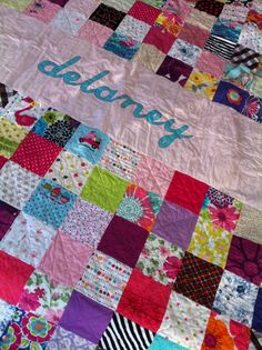 Personalized Baby Clothes quilt