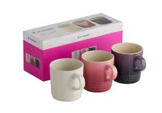 Set of 3 Mugs - Available in Cassis, Rose and Almond, these mugs are perfectly stylish and great for serving hot drinks or deserts.