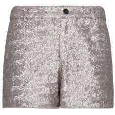 MANGO - NOVO - Shorts minilantejoulas ($48) via Polyvore