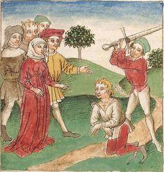 Antonius <von Pforr> Buch der Beispiele der alten Weisen — Oberschwaben, um 1475 Cod. Pal. germ. 466 Folio 114r