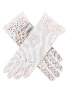 Dents Ladies cotton crochet gloves Ecru - House of Fraser