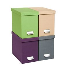 a keepsake box with hanging files for every yeara way to keep track and preserve paper artwork etc you can take the librarian out of the library but boxes stack office file
