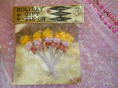 vintage chenille spun cotton stem angels with pink collar frills Vintage Party Favors, Foil Packaging, Spun Cotton, No Frills, Spinning, Angels, Holiday, Pink, Gifts