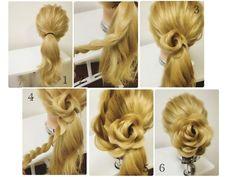 意外と簡単♪ひねりだけの生け花 Girl Hairstyles, Wedding Hairstyles, Hair Arrange, Hair Setting, Cosmetology, Updos, Bridal Hair, Braids, Hair Cuts