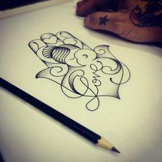 "455 curtidas, 42 comentários - Japa Search Tattoo (@yukiotattoo) no Instagram: ""#japasearchtattoo #searchtattoo #search #yukiotattoo #studio #pinheiros #work #desenho #hamsa…"""