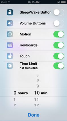 Guided Access settings improved in iOS 8 - I don't use GA very often, but these new features are great.