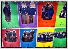 Great advice from Alistair on this site - feature the children in their own photo number line to reinforce number concepts (but focus on photographing the children who struggle with number, as they are the ones who need this display most) Maths Eyfs, Preschool Math, Kindergarten Activities, Teaching Math, Toddler Activities, Teaching Displays, School Displays, Classroom Displays, Classroom Charts