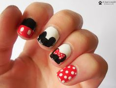 Disney-Nails - Mickey & Minnie Mouse