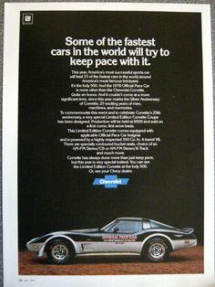 1978 Corvette Pace Car Advertisement