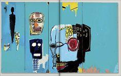 "Jean-Michel Basquiat - Urban Art - Neo Expressionism - ""Blue Head"", 1983"