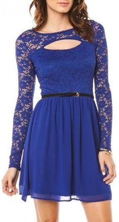 Cobalt Lace Dress ♥
