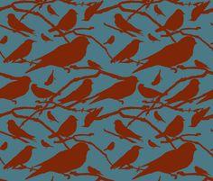 2 Color Birds fabric by flyingcanvasstudio on Spoonflower - custom fabric