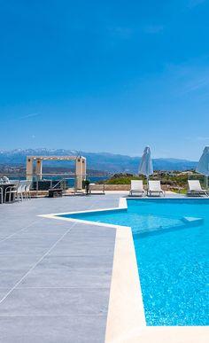 Amazing sun terrace in Crete by #TheHotelgr