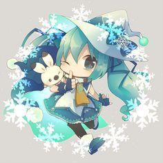 Vocaloid Hatsune Miku chibi