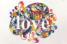 Custom Quilled Lettering Love by jabateau on Etsy, $75.00