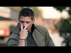 Supernatural Eye of The Tiger. Hilarious. This just makes me love Jensen Ackles even more. He air guitars his leg!
