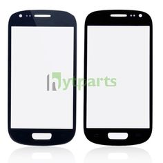 Samsung cell phone parts-Front Outer Screen Glass Lens Replacement for Samsung Galaxy S3 Mini Blue