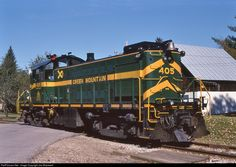 Green Mountain tourist train out of Bellows Falls VT running around train at Chester.
